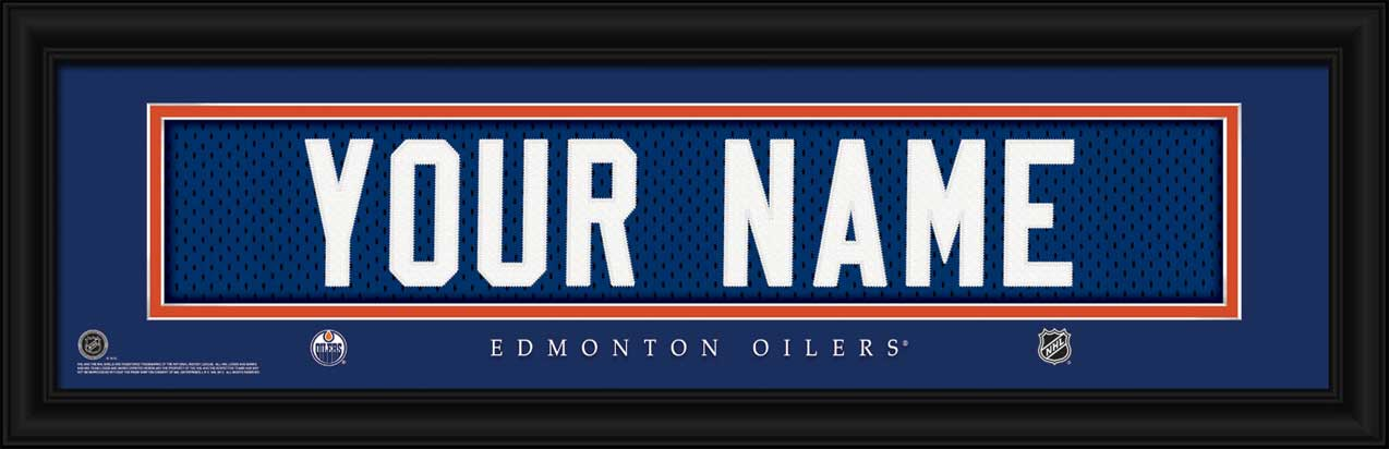 NHL - Edmonton Oilers - Personalized Jersey Nameplate - Framed Picture