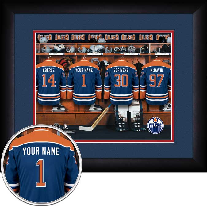 NHL - Edmonton Oilers - Personalized Locker Room - Framed Picture