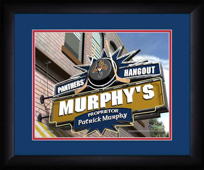 NHL - Florida Panthers - Personalized Hangout Sign - Framed Picture