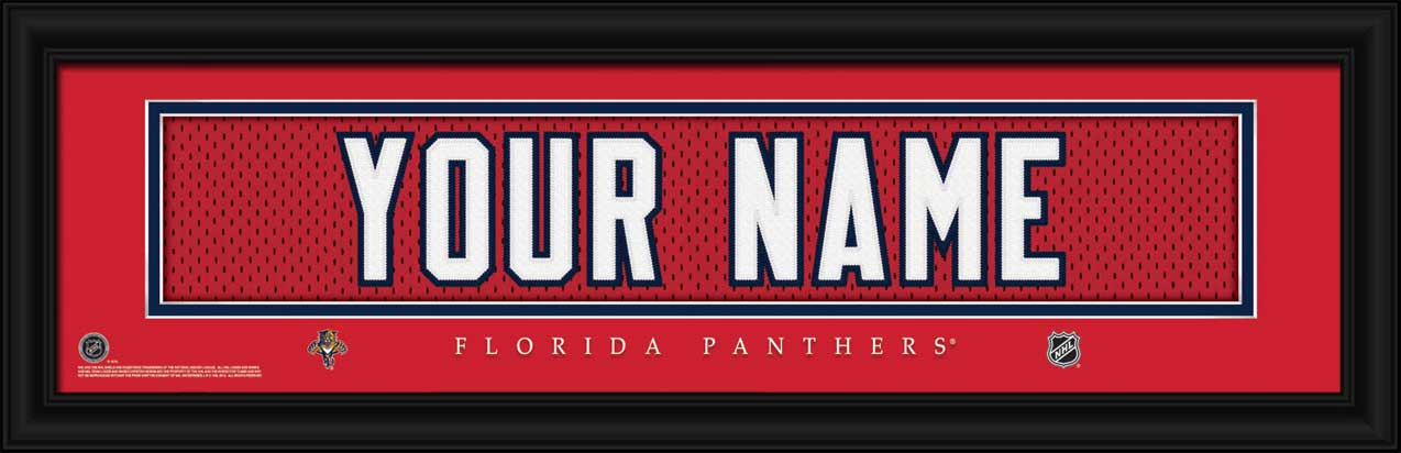 NHL - Florida Panthers - Personalized Jersey Nameplate - Framed Picture