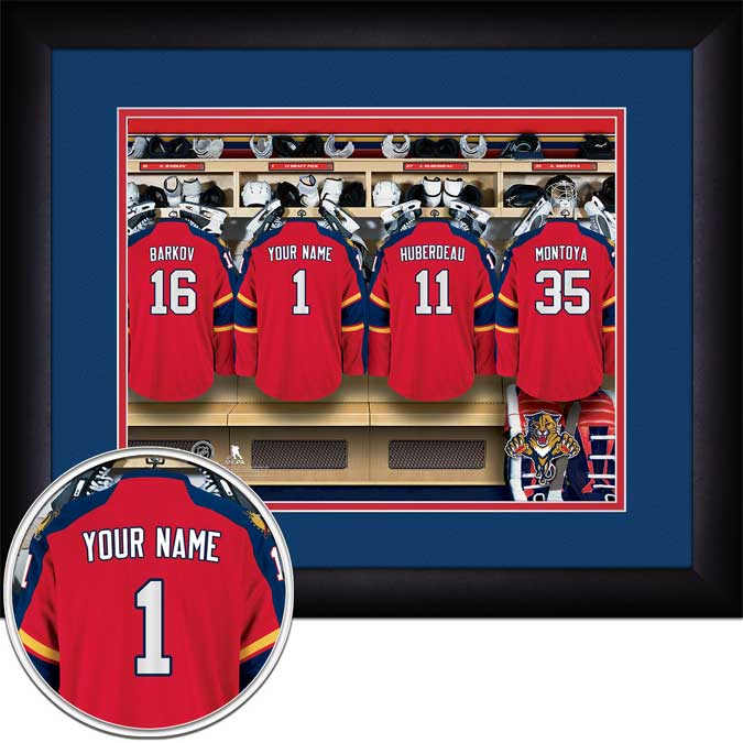 NHL - Florida Panthers - Personalized Locker Room - Framed Picture