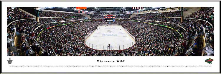 NHL - Minnesota Wild - Xcel Energy Center - Playoffs 2013 - Framed Picture