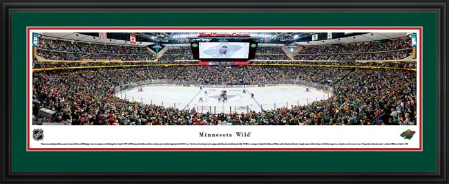 NHL - Minnesota Wild - Xcel Energy Center - Framed Picture