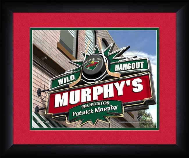 NHL - Minnesota Wild - Personalized Hangout Sign - Framed Picture