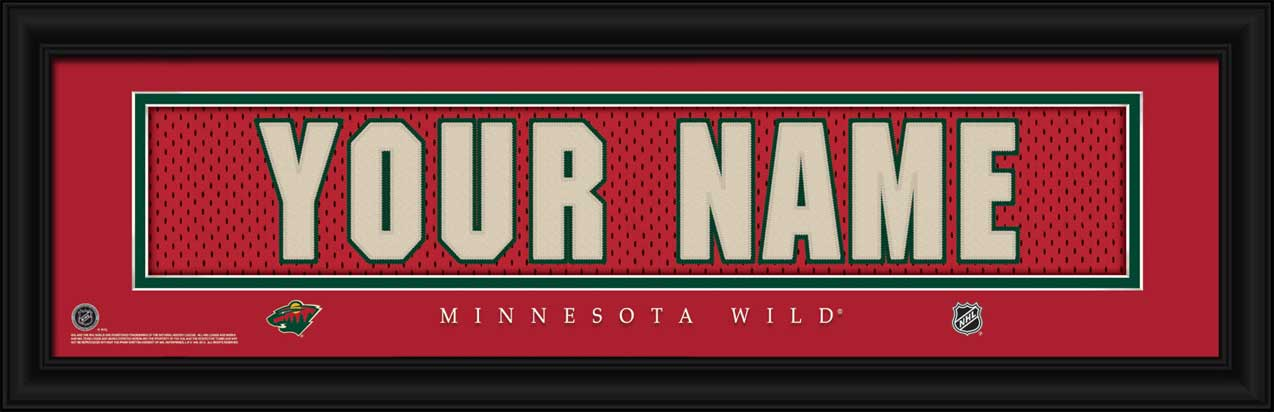 NHL - Minnesota Wild - Personalized Jersey Nameplate - Framed Picture