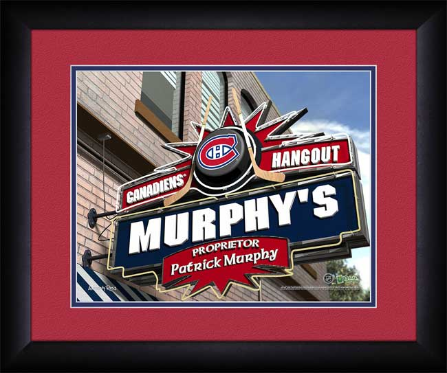 NHL - Montreal Canadiens - Personalized Hangout Sign - Framed Picture