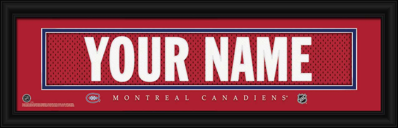 NHL - Montreal Canadiens - Personalized Jersey Nameplate - Framed Picture
