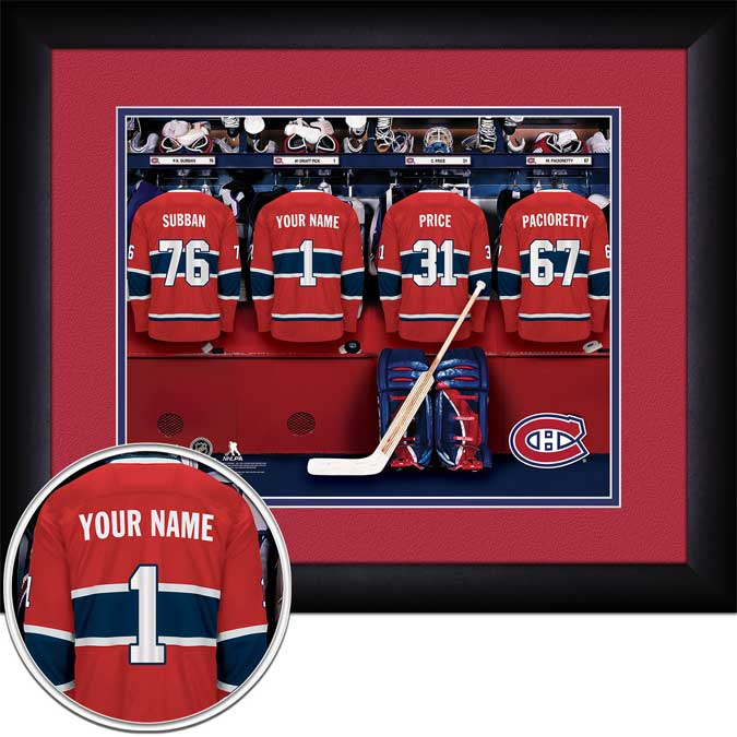 NHL - Montreal Canadiens - Personalized Locker Room - Framed Picture