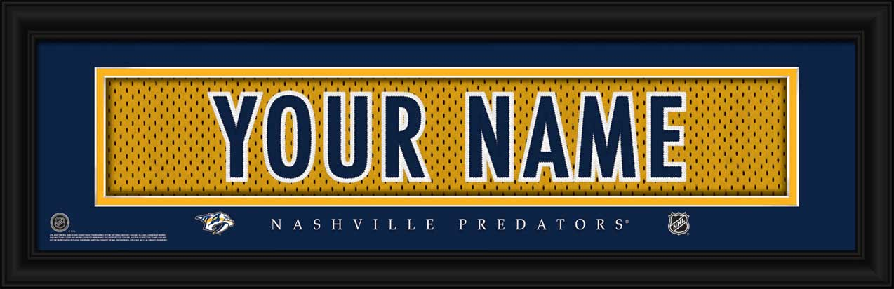 NHL - Nashville Predators - Personalized Jersey Nameplate - Framed Picture