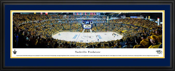 NHL - Nashville Predators - Bridgestone Arena - Framed Picture
