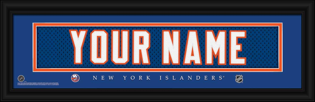 NHL - New York Islanders - Personalized Jersey Nameplate - Framed Picture