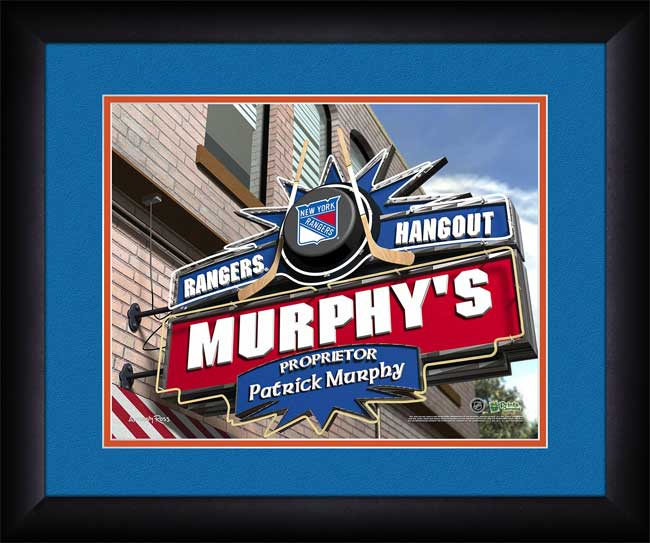 NHL - New York Rangers - Personalized Hangout Sign - Framed Picture