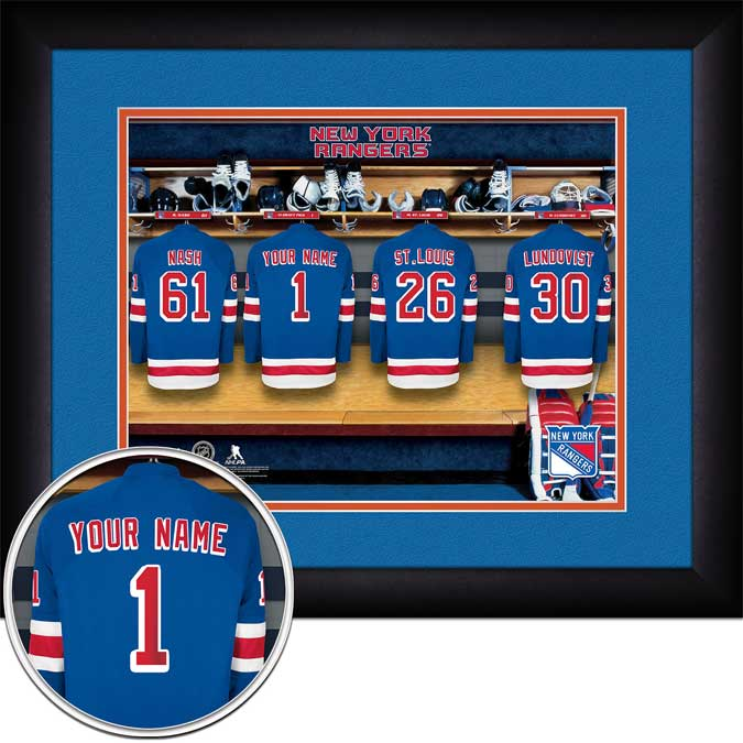 NHL - New York Rangers - Personalized Locker Room - Framed Picture