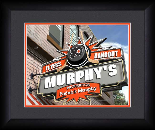 NHL - Philadelphia Flyers - Personalized Hangout Sign - Framed Picture