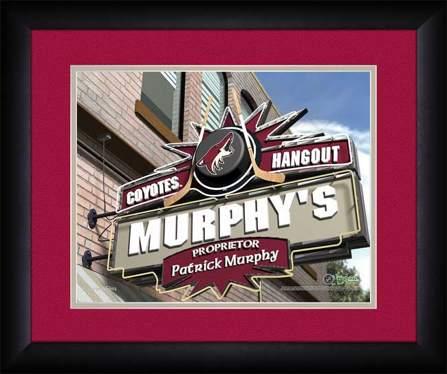 NHL - Phoenix Coyotes - Personalized Hangout Sign - Framed Picture
