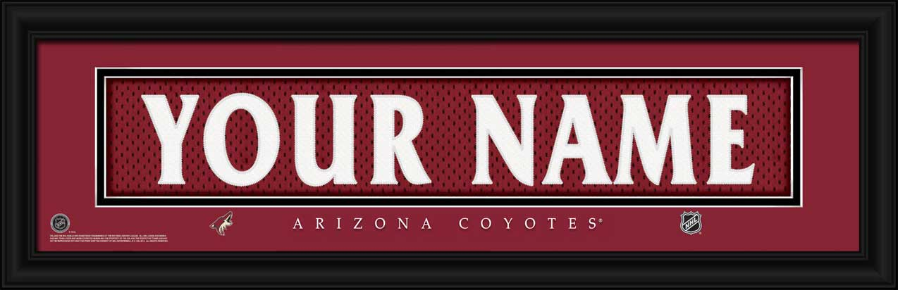 NHL - Phoenix Coyotes - Personalized Jersey Nameplate - Framed Picture