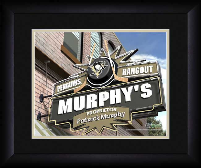 NHL - Pittsburgh Penguins - Personalized Hangout Sign - Framed Picture