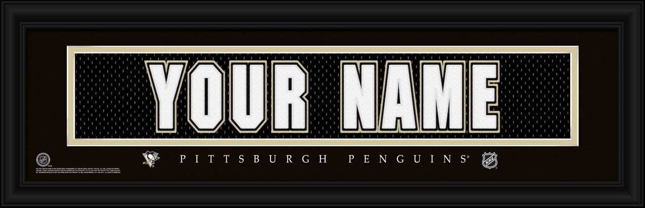 NHL - Pittsburgh Penguins - Personalized Jersey Nameplate - Framed Picture