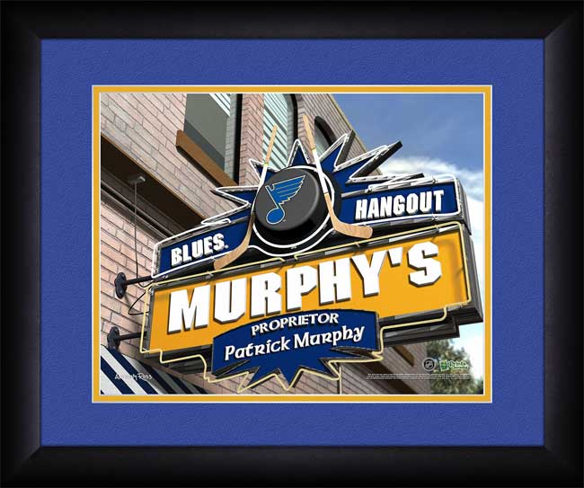 NHL - St. Louis Blues - Personalized Hangout Sign - Framed Picture