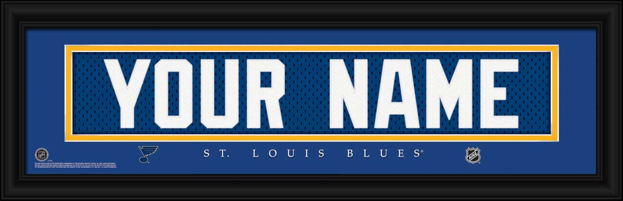 NHL - St. Louis Blues - Personalized Jersey Nameplate - Framed Picture
