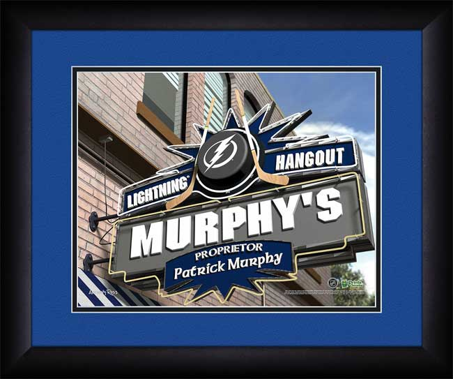 NHL - Tampa Bay Lightning - Personalized Hangout Sign - Framed Picture