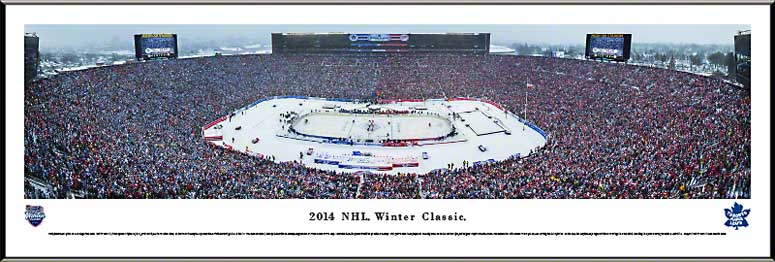 NHL - Toronto Maple Leafs - NHL Winter Classic 2014 - Framed Picture