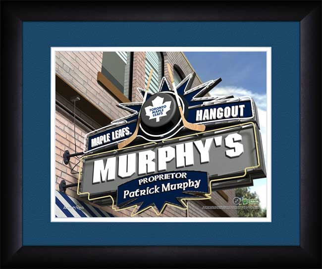 NHL - Toronto Maple Leafs - Personalized Hangout Sign - Framed Picture