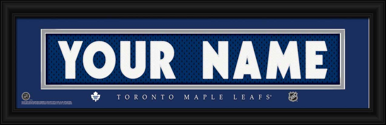 NHL - Toronto Maple Leafs - Personalized Jersey Nameplate - Framed Picture