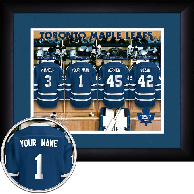 NHL - Toronto Maple Leafs - Personalized Locker Room - Framed Picture