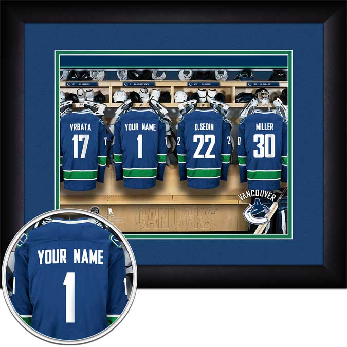 NHL - Vancouver Canucks - Personalized Locker Room - Framed Picture