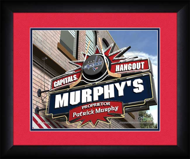 NHL - Washington Capitals - Personalized Hangout Sign - Framed Picture