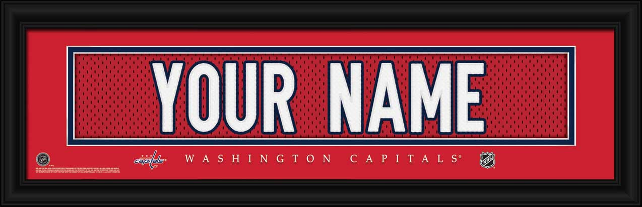 NHL - Washington Capitals - Personalized Jersey Nameplate - Framed Picture