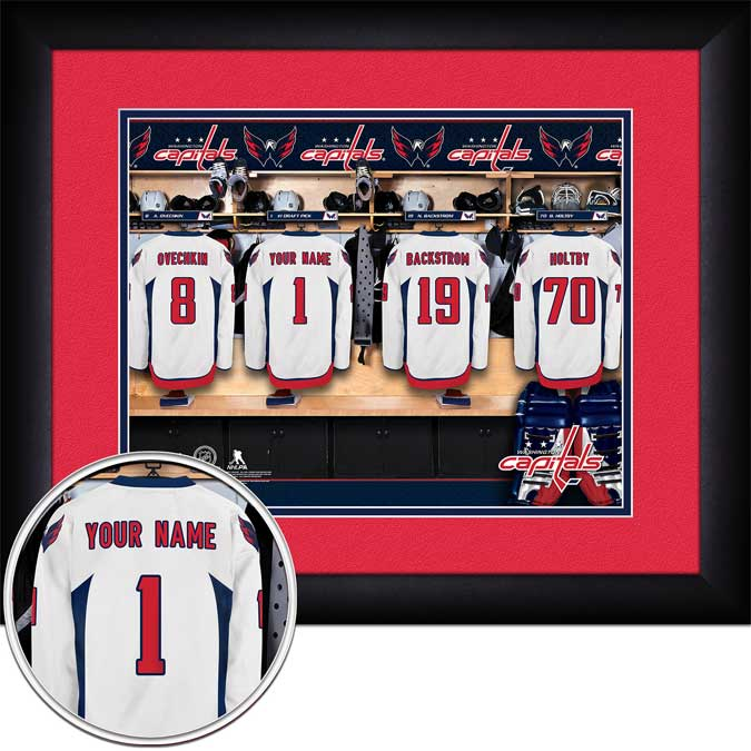 NHL - Washington Capitals - Personalized Locker Room - Framed Picture
