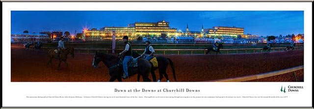 Racing - Kentucky Derby - Churchill Downs at Dawn - Framed Picture