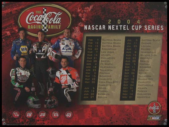 Racing - NASCAR Drivers - The Coca-Cola Racing Family - Plaque Mounted & Laminated Print