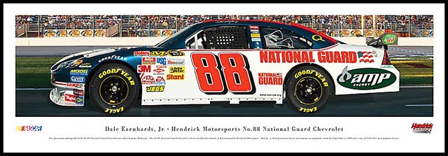 Nascar Drivers Dale Earnhardt Jr 88 National Guard Wood Mounted Poster Print Auto Racing Nascar Drivers Framed Pictures Posters Prints