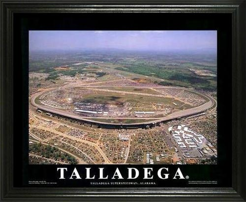 Racing - NASCAR Tracks - Talladega Superspeedway - Lg - Framed Picture