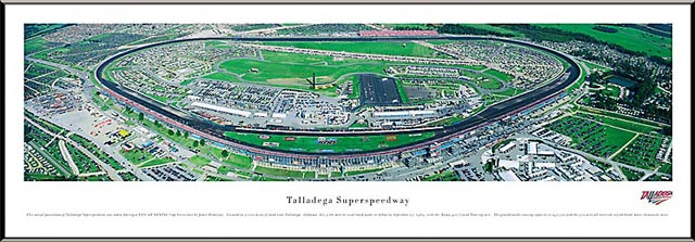 Racing - NASCAR Tracks - Talladega Superspeedway Aerial - Framed Picture