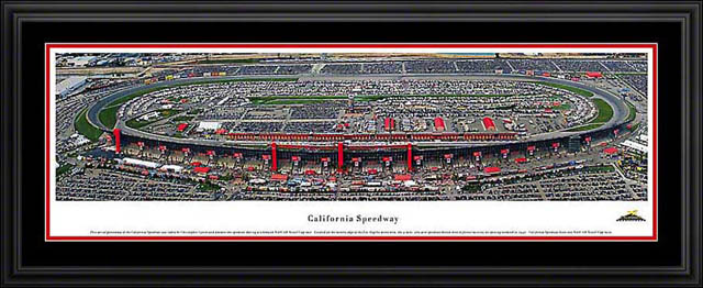 Racing - NASCAR Tracks - California Speedway Aerial - Framed Picture