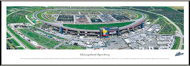 Racing - NASCAR Tracks - Chicagoland Speedway Aerial - Framed Picture