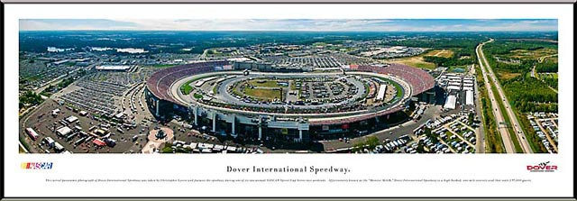 Racing - NASCAR Tracks - Dover International Speedway Aerial - Framed Picture