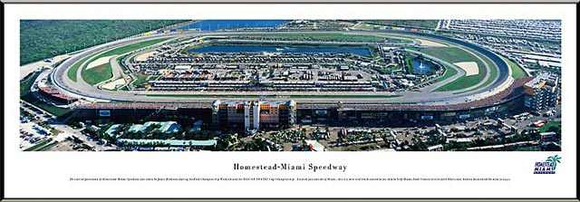 Racing - NASCAR Tracks - Homestead-Miami Speedway Aerial - Framed Picture