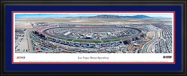 Racing - NASCAR Tracks - Las Vegas Motor Speedway Aerial - Framed Picture