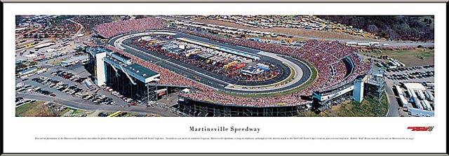 Racing - NASCAR Tracks - Martinsville Speedway Aerial - Framed Picture