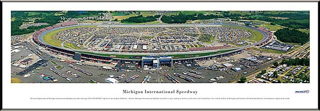 Racing - NASCAR Tracks - Michigan International Speedway Aerial - Framed Picture