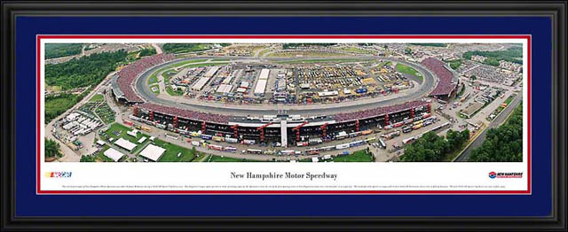 Racing - NASCAR Tracks - New Hampshire Motor Speedway Aerial - Framed Picture