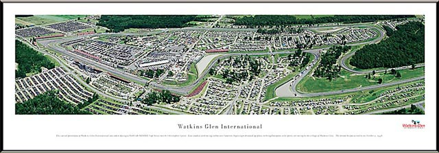 Racing - NASCAR Tracks - Watkins Glen International Aerial - Framed Picture