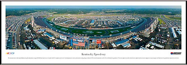 Racing - NASCAR Tracks - Kentucky Speedway Aerial - Framed Picture