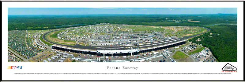 Racing - NASCAR Tracks - Pocono Raceway Aerial - Framed Picture