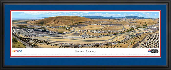 Racing - NASCAR Tracks - Sonoma Raceway Aerial - Framed Picture